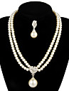 Gorgeous Alloy With Pearl Women\'s Jewelry Set Including Necklace,Earrings