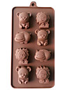 silikon lejon, ko&bära choklad formar gelé is formar godis tårta mögel bakeware
