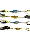 Metal Bait Fish Shape Fishing Lure with Black Feather (6G/11G/15G/20G Random Color)