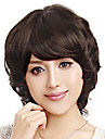 Capless kort hoey kvalitet syntetisk Brown Wig