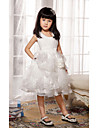 Ball Gown/Princess Knee-length Flower Girl Dress - Satin/Tulle Sleeveless