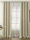 två paneler fasta obefläckade mörkläggningsgardiner draperier med ren set