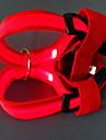 Chien Harnais Lampe LED Rouge / Blanc / Vert / Bleu / Incanardin / Jaune / Orange Nylon