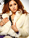 Long Sleeve Shawl Faux Fur Party/Casual Jacket