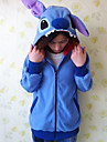 Kigurumi Pyjamas Stitch Leotard/Onesie Halloween Animal Sovplagg Blå Lappverk Polar Fleece Kigurumi UnisexHalloween / Jul / Karnival /