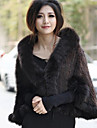 Half Sleeve Shawl Mink Fur Party/Casual Jacket