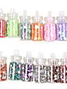 48 Farger Glass Flaskevann Nail Art Dekor Tilfeldige Models