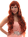 Capless mixte cheveux longs ondules Auburn Red Hair Wigs