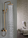 Sprinkle® Shower Faucets Wall Mount with Antique Brass Single Handle Three Holes