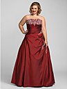 TS Couture® Prom / Formal Evening / Quinceanera / Sweet 16 Dress - Open Back Plus Size / Petite A-line / Ball Gown / Princess Strapless Floor-length