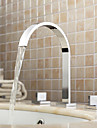 Sprinkle® by Lightinthebox - Widespread Contemporary Chrome Bathroom Sink Faucet