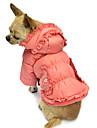 Hundar Kappor / Huvtröjor Rosa Hundkläder Vinter Enfärgat