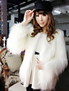 Long Sleeve Collarless Faux Fur Party/Casual Coat(More Colors)