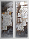 Hand Painted Oil Painting Abstract with Stretched Frame Set of 3 1311-AB1013