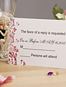Red Floral Response Card - Set of 12