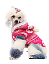 Dog Costume / Sweater / Hoodie / Outfits Pink Dog Clothes Winter Cosplay / Halloween
