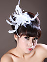 Women\'s Feather / Rhinestone Headpiece-Wedding / Special Occasion Flowers As the Picture
