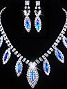 Set bijuterii Pentru femei Nuntă / Logodnă / Zi de Naștere / Cadou / Petrecere / Ocazie specială Set Bijuterii Aliaj ȘtrasColiere /