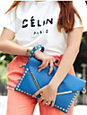 Women PU Casual / Event/Party Clutch / Evening Bag Blue / Orange / Black