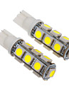 T10 2.5W 13x5060SMD 200-230LM 6000-6500K Cool White Light LED Bulb för bil (12V)