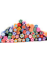 20st Söt 3D blommor Nail Art FIMO Canes Rods Decoration