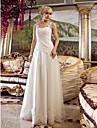 Lanting Bride® Corte en A Tallas pequenas / Tallas Grandes Vestido de Boda Hasta el Suelo Hombros al Aire Tul con