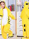 Kigurumi Pyjamas Tiger Leotard/Onesie Halloween Animal Sovplagg svart / Gul Lappverk Flanell Kigurumi Barn Halloween