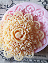 3d runt blomman silikonform fondant formar socker hantverksredskap chokladform för tårtor