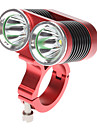 Bike Light , Front Bike Light / Bike Lights - 4 Mode 2400 Lumens Rechargeable 18650 Battery Cycling/Bike Red Bike DARK KNIGHT K2C