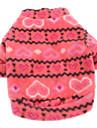 Chien Sweatshirt Rouge Rose Vetements pour Chien Hiver Printemps/Automne Coeur Decontracte / Quotidien Garder au chaud