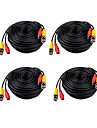 4 PCS 30 Meters (or 99 Feet) BNC Video and Power 12V DC Integrated Cable
