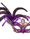 Mascara Festival/Celebracion Traje de Halloween Purpura / Negro / Rosado / Azul / Beige / Fucsia Mascara Halloween / Carnaval MujerPluma