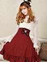 kvinnors ängla sexig pläd goth punk lolita school röd anf svart klubb cosplay kjolar