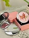 Modele personnalise papillon rose de cadeau Chrome miroir compact