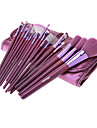 MEGAGA Lila PU Case 18st Cosmetic Brush Set