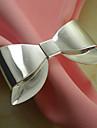 Bowknot Wedding Servett ring Set med 6, Metal Dia 4,5 cm
