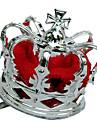 Couronnes Reine Fete / Celebration Deguisement Halloween Rouge / Argent Mosaique / Vintage Couronnes Halloween / Carnaval Unisexe Alliage