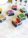 6 Pieces Colorful Wooden Stamp Set