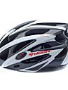 MOON Cykling Vit + Svart PC + EPS 25 Vents MTB Skyddshjälm