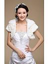 Short Sleeve Faux Fur Wedding/Party Wraps/Evening Jackets Bolero Shrug