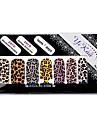 -Ponta completa 14PCS Leopard Print Nail Art Adesivos Decalques Ambiental gravida