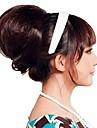 Kvinna Mode Hög kvalitet Bun Syntetisk peruk hår Extend 3 färger