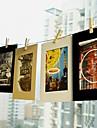 6 pouces paquet de 10 motif de paysages suspendus trame du papier photo (noir, blanc, brun)
