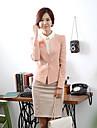 DOWISI femei dulce Tailor Collar Bow Unul Buckle Pink Suit Blazer
