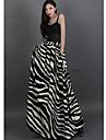 Verragee Zebra Pattern subțire High-talie fusta