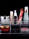 Rangement pour Maquillage Boite de maquillage Rangement pour Maquillage Plastique Acrylique Couleur Pleine 23.0 x 9.0 x 11.0 Transparents