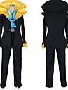 Inspire par One Piece Brook Manga Costumes de Cosplay Costumes Cosplay Couleur Pleine Manteau Pantalon Cravate Pour Masculin