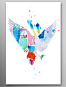 Hand Painted Oil Painting Animal Flying Birds with Stretched Frame Ready to Hang