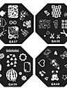 1PCS Nail Art stämpel Stämpling Mall Plate QA Series NO.13-40 (Blandade Mönster)