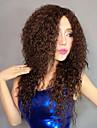 100% Kanekalon Synteettinen Pörröinen Ruuvi Curly Brown Wig